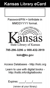 State Library of Kansas Library Card